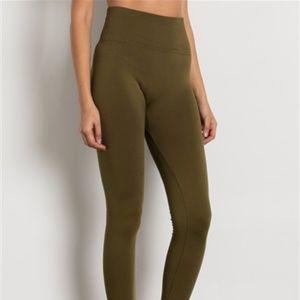 Pants - OLIVE HIGH WAIST FLEECE LEGGINGS NWT